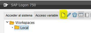 SAP GUI Crear sistema